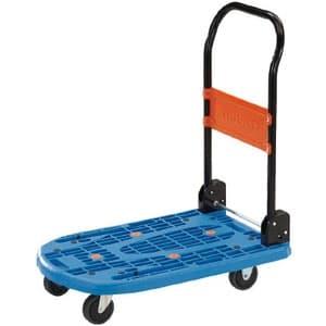 軽量樹脂製運搬車 《カルティオ》 折りたたみハンドルタイプ 省音タイプ ブルー