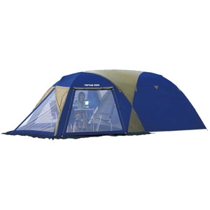 《CAPTAIN STAG》 ルディナスクリーンツールームドームテント 5〜6人用 キャリーバッグ付