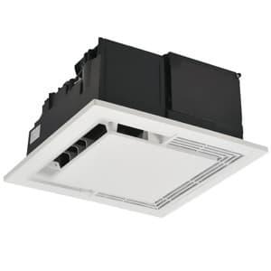 天井埋込形空気清浄機 適用床面積:20畳 単相100V 埋込寸法:390mm角 センサー付
