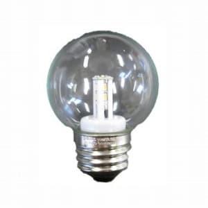 G50ボール形 LEDランプ クリア 全光束:50lm 10〜15W相当 2700K E26口金