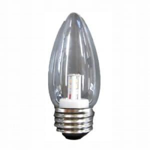 シャンデリア形 LEDランプ クリア 全光束:50lm 10〜15W相当 2700K E26口金