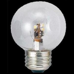 G50形 ボール形LEDランプ クリア 全光束:40lm 10〜15W相当 電球色 E26口金
