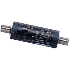 CS・BSラインブースター UHF・VHFパスタイプ 共同受信用 壁面取付用樹脂クリップ付