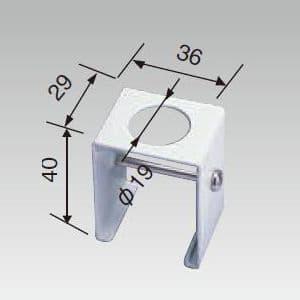 ライティングレール用ハンガー Φ19パイプ吊用 白 画像2