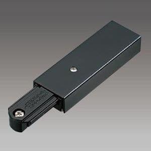 ライティングレール用フィードインキャップ 黒 15A 125V