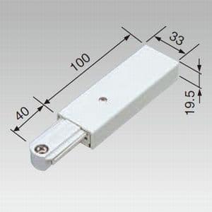ライティングレール用フィードインキャップ 黒 15A 125V 画像2