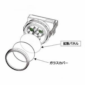 高天井用LED器具 拡散パネル付 400Wクラス 点灯方式:固定出力形 配光角:60° 200〜242V 【受注生産品】 画像2