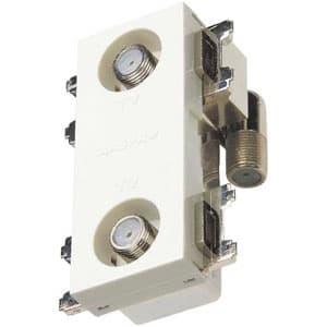 直列ユニット 2端子型 テレビ端子 4K・8K衛星放送対応 壁面埋込・シールド型 上 り帯域カットフィルタースイッチ付
