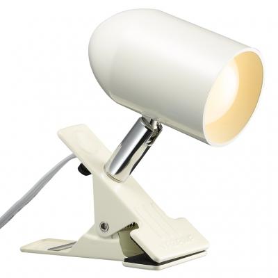6W電球色LEDクリップライトポリカ アイボリー