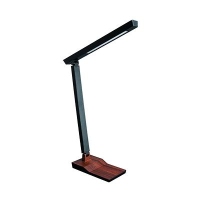 5W木目調スタンド 調光機能付 ダークウッド