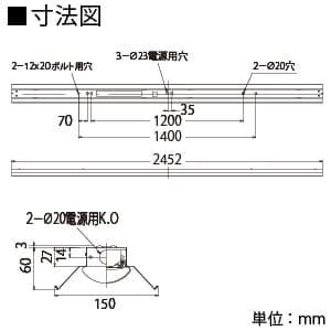 【お買い得品 10台セット】LEDベースライト 《TENQOOシリーズ》 110タイプ 直付形 反射笠 一般タイプ 13400lmタイプ Hf86形×2灯用器具相当 昼白色 非調光タイプ 画像4