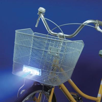 前カゴ用3LEDスリムサイクルライト