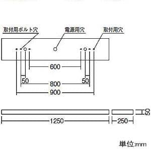 LEDベースライト 《LEDZ SDシリーズ SOLID TUBELite》 40Wタイプ 直付タイプ 下面開放形 一般タイプ 4000lmタイプ FLR40W×2灯器具相当 ナチュラルホワイト色 非調光タイプ 画像2