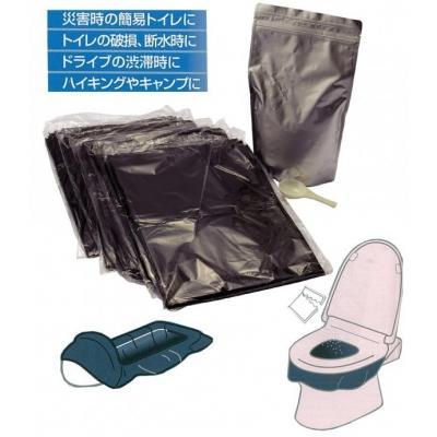 緊急時の携帯トイレ40回分袋付
