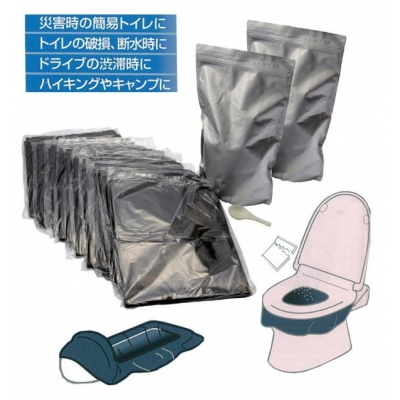緊急時の携帯トイレ80回分袋付