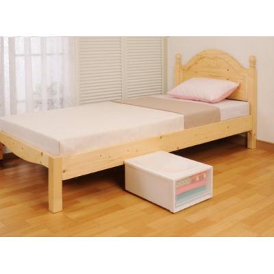 ベッドの高さをあげる足 ブラウン 画像2