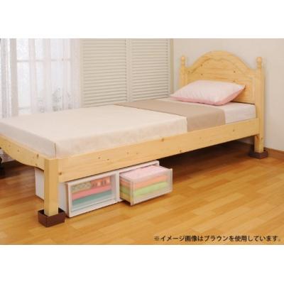 ベッドの高さをあげる足 ブラウン 画像3