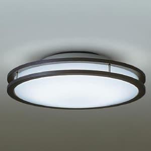 LED小型シーリングライト 明るさFHC28W相当 非調光タイプ 昼白色タイプ ダークブラウン 4955620627396