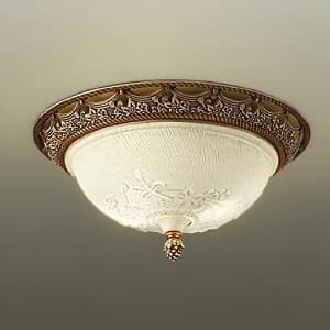 LED小型シーリングライト ランプ付 ハンドメイド品 白熱灯60W×2灯相当 非調光タイプ 6W×2灯 口金E17 電球色タイプ 4955620567258