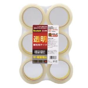 《スコッチ》 透明梱包用テープ 中・軽量物用 48mm×50m 6巻入