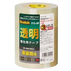 《スコッチ》 透明梱包用テープ 重量物用 48mm×50m 3巻入
