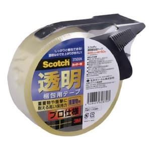 《スコッチ》 透明梱包用テープ(プロ仕様) 重梱包用 48mm×50m カッター付