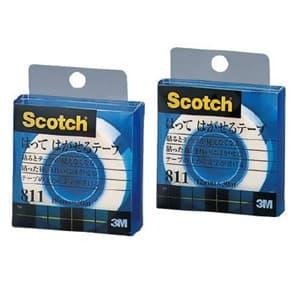 《スコッチ》 貼ってはがせるテープ 18mm×30m クリアケース入