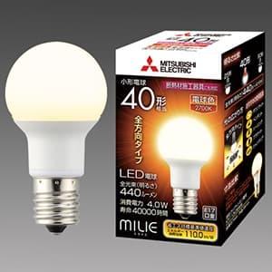 LED電球 《MILIE ミライエ》 全方向タイプ 小形電球形 40W形相当 全光束440lm 電球色 E17口金