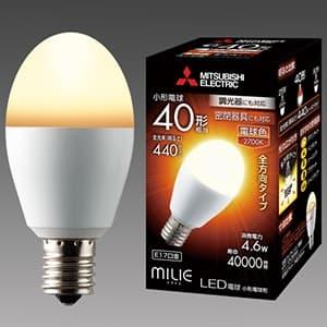 LED電球 《MILIE ミライエ》 全方向タイプ 小形電球形 40W形相当 全光束440lm 電球色 調光器対応タイプ E17口金