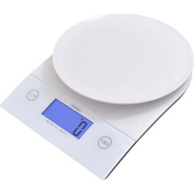 バックライト付デジタルスケール2kg ホワイト