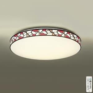 LEDシーリングライト 〜8畳用 プルレス調色・調光タイプ(昼光色〜電球色) 45W タイマー付リモコン付属 プラスチック(ステンド調印刷) 4955620617977