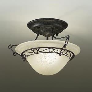 LEDシーリングライト ランプ付 ハンドメイド品 白熱灯60W×2灯相当 非調光タイプ 11.6W 口金E17 電球色タイプ ブラックアンティーク色 4955620589311