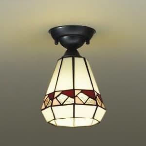 LEDシーリングライト ランプ付 ハンドメイド品 白熱灯60W相当 非調光タイプ 4.7W 口金E17 下面開放 電球色タイプ ステンドグラス 4955620617953
