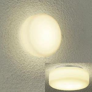 LED浴室灯 電球色 非調光タイプ 白熱灯60Wタイプ 防雨・防湿形 天井・壁付兼用