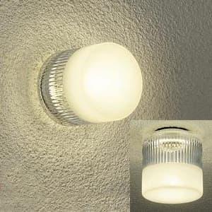 LED浴室灯 電球色 非調光タイプ E17口金 白熱灯60Wタイプ 防雨・防湿形 天井・壁付兼用 ランプ付