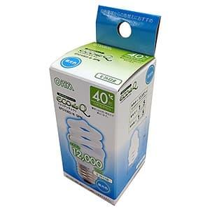 電球形蛍光灯 《エコデンキュウ》 スパイラル形 白熱電球40W形相当 昼光色 E26口金