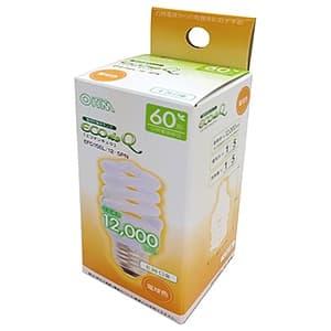 電球形蛍光灯 《エコデンキュウ》 スパイラル形 白熱電球60W形相当 電球色 E26口金