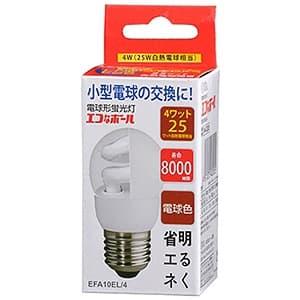 電球形蛍光灯 《エコなボール》 A形 白熱電球25W形相当 電球色 E26口金
