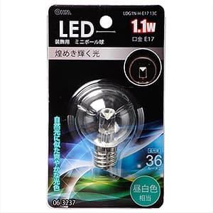 LEDミニボール球 G40形 昼白色相当 E17口金 装飾用 クリア