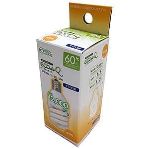 電球形蛍光灯 《エコデンキュウ》 スパイラル形 白熱電球60W形相当 電球色 E17口金