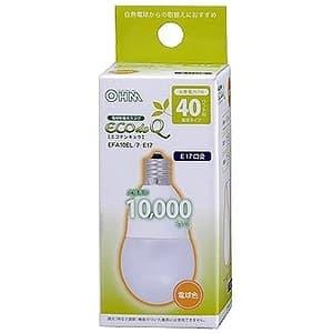 電球形蛍光灯 《エコデンキュウ》 A形 白熱電球40W形相当 電球色 E17口金
