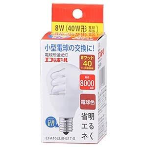 電球形蛍光灯 《エコなボール》 A形 白熱電球40W形相当 電球色 E17口金