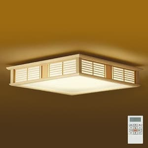 LED和風シーリングライト 〜12畳 調色・調光タイプ(昼光色〜電球色) クイック取付式 リモコン・プルレススイッチ付 4955620629932