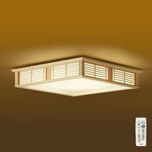 LED和風シーリングライト 〜8畳 調色・調光タイプ(昼光色〜電球色) クイック取付式 リモコン・プルレススイッチ付 4955620629918