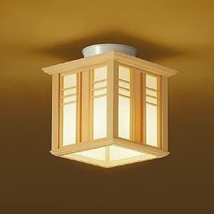 LED和風小型シーリングライト 電球色 非調光タイプ E26口金 白熱灯60Wタイプ 端子台木ネジ取付方式 4955620629895