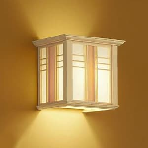 LED和風ブラケットライト 電球色 非調光タイプ E17口金 白熱灯60Wタイプ 壁面取付専用