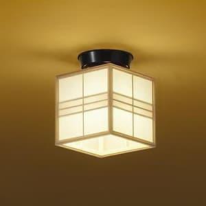 LED和風小型シーリングライト 電球色 非調光タイプ E17口金 白熱灯60Wタイプ 端子台木ネジ取付方式 4955620616994