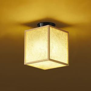 LED和風小型シーリングライト 電球色 非調光タイプ E26口金 白熱灯60Wタイプ 端子台木ネジ取付方式 4955620618653
