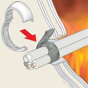 耐火キャップNX 適合貫通穴呼び径150(穴径φ160)以下 空調配管用 画像3