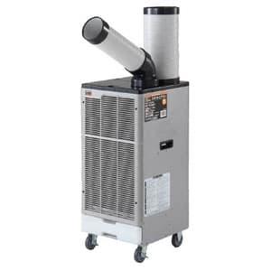 スポットエアコン 1口タイプ 単相100V 首振り機能なし 風量2段階切替式(弱・強) 電源コード2m(プラグ付)